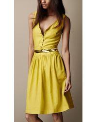 Burberry Brit - Textured Silk Dress - Lyst