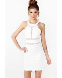 Nasty Gal Paisley Mesh Dress - Lyst