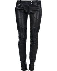 Balmain Skinny Trousers black - Lyst