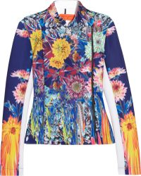 Clover Canyon - Turquoise Valley Printed Stretch-Neoprene Jacket - Lyst