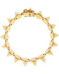 Eddie Borgo Goldplated Silver Cone Bracelet gold - Lyst