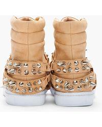 Jeffrey Campbell - Light Brown Nubuck Spike Sneakers - Lyst