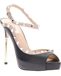 Valentino Studded Sandal - Lyst