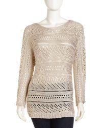 Alice + Olivia Patrick Off Shoulder Sweater - Lyst