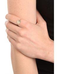 Ariel Gordon - Gold Slim Signet Ring  - Lyst