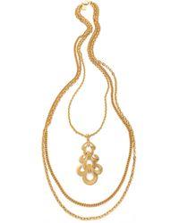 Ben-Amun - Portofino Layered Pendant Necklace - Lyst
