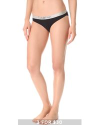 Calvin Klein Metallic Chrome Bikini Briefs - Lyst
