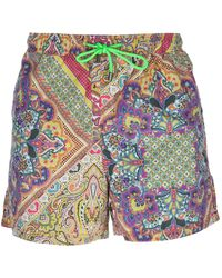 Etro Printed Swim Shorts - Lyst