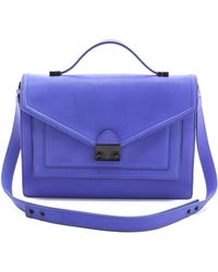 Loeffler Randall The Rider Bag blue - Lyst