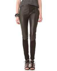 Surface To Air - Deeta Leather Leggings - Lyst