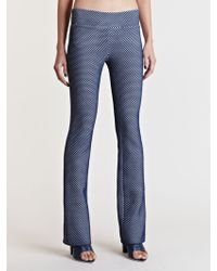 Lucas Nascimento - Tech Lace Skinny Flare Trousers - Lyst