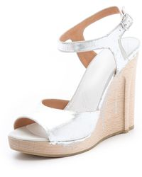 Maison Martin Margiela Strappy Metallic Sandals - Lyst