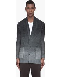 Silent - Damir Doma - Grey Ombre Thick Knit Classic Cardigan - Lyst