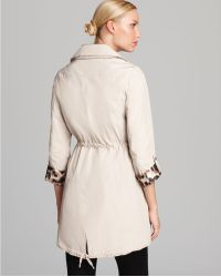 Laundry by Shelli Segal Double Breasted Trench Anorak Coat - Lyst