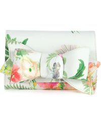 Ted Baker Whisley Bow Printed Clutch - Lyst