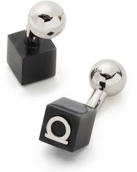 Ferragamo Gem Cube Gancini Cufflinks - Lyst