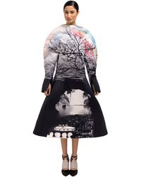 Mary Katrantzou Printed Coat Dress - Lyst