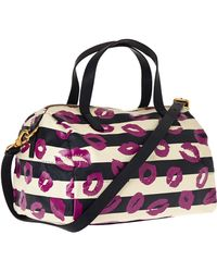 Marc By Marc Jacobs - Navy Eazy Lips Print Bowling Bag - Lyst