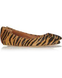 Mulberry - Tigerprint Calf Hair Ballet Flats - Lyst
