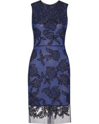 Vera Wang Lace and Tulle Dress - Lyst
