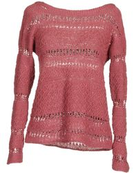 Base Long Sleeve Sweater pink - Lyst