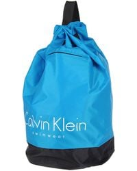 Calvin Klein Blue Backpacks - Lyst