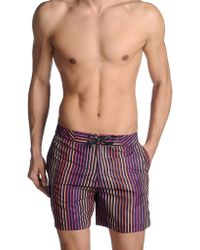 Calvin Klein Purple Swimming Trunk - Lyst