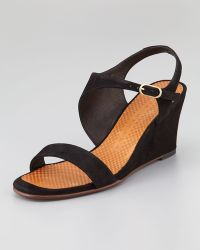 Chie Mihara - Anatour Midwedge Sandal Black - Lyst