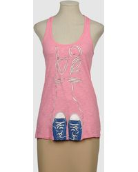 Converse Top pink - Lyst