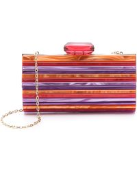 Overture Judith Leiber - Monica Striped Resin Clutch - Lyst