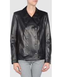 Snow From St Barth Leather Outerwear - Lyst