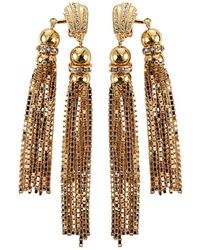 House of Lavande - Double Tassel Earrings - Lyst
