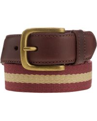 John Lewis - Stripe Chino Belt - Lyst