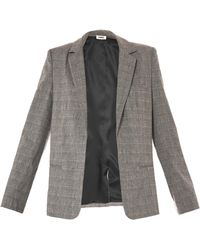 L'Agence Grey Orchid Check Jacket - Lyst