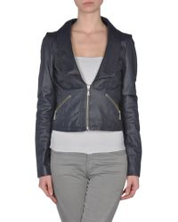 Lipsy B Leather Outerwear - Lyst