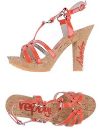Replay Platform Sandals - Lyst
