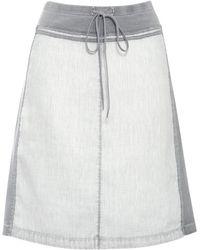 Sandwich - Linen and Jersey Skirt - Lyst