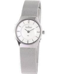 Skagen - 233xsss Womens Steel Mesh Bracelet Watch - Lyst