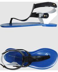 Studio Pollini Thong Sandal blue - Lyst