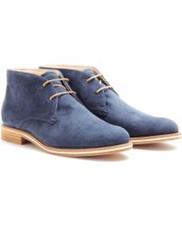 Tod's Tods No_code Suede Desert Boots - Lyst