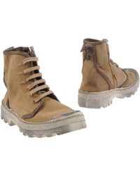 Unu.sual.code Combat Boots - Lyst