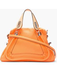 Chloé Medium Orange Fizz Paraty Shoulder Bag - Lyst