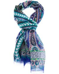 Etro Multicoloured Scarf - Lyst