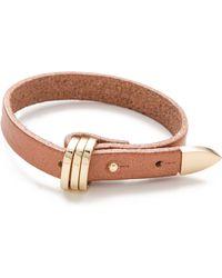 Linea Pelle | Avery Buckle Leather Bracelet | Lyst