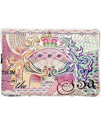 Mary Katrantzou - Sterling Printed Leather Large Pouch - Lyst