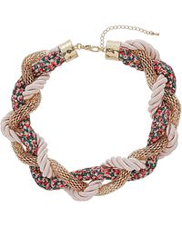 Topshop Floral Fabric Twist Collar multicolor - Lyst