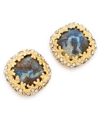 Alexis Bittar Mauritius Chrysocolla Cushion Post Earrings - Lyst