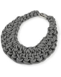 Alienina Knot Bib Necklace - Lyst