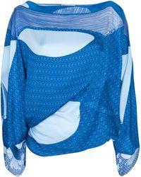 Emilio Pucci Printed Blouse blue - Lyst