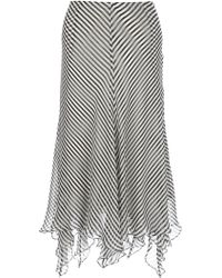 Ralph Lauren Blue Label Striped Layered Skirt - Lyst